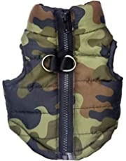 KariNao Hunde Hundejacke Winterjacken Hundemantel Wintermantel Camouflage Outfit mit D Ring