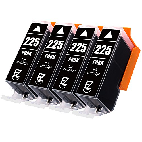 E-Z Ink (TM) Compatible Ink Cartridge Replacement for Canon PGI-225 PGI225 (4 Large Black) Works with Canon PIXMA MX882 MX892 MG5320 MG6220 MG5220 MG6120 MG8220 MX712 IP4820 IP4920 IX6520Printer