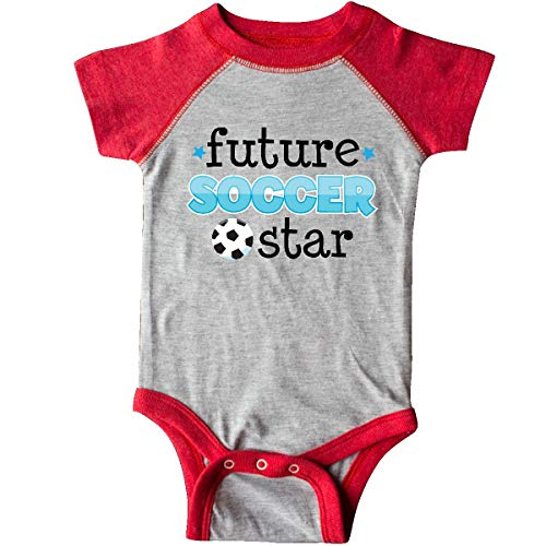 inktastic - Future Soccer Star Infant Creeper 6 Months Heather and Red ed8b