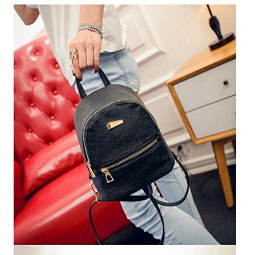 PU Leather Backpack Bags,Hemlock Girls Travel Handbag School Rucksack Bag