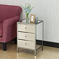 Dory Mirror Finished 3 Drawer Side Table