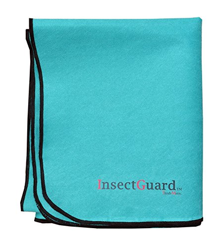 InsectGuard PETS - Permethrin Insect Repellent Treated 80 Inch Long by 60 Inch Wide Cover (Green) (Stall Horse Bedding)