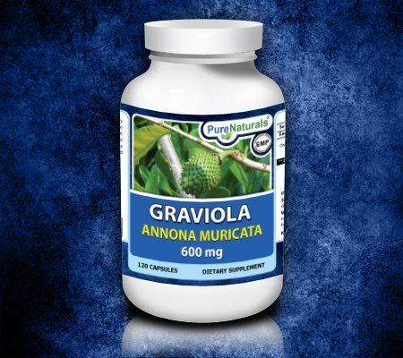 Pure Naturals, Graviola, Annona muricata, 600 mg, 120 Capsules