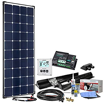 12V Solaranlage für Wohnwagen SM100/12V MPPT - Komplett-Set 100 Watt für Wohnmobil mit MPPT Laderegler