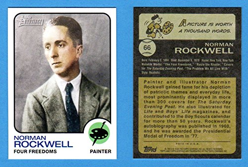 Norman Rockwell 2009 Topps American Heritage**Painter-Four Freedoms** (1973 Topps Baseball - San Painters Diego