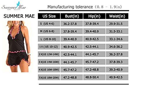 7db129b3fa4 Summer Mae Women s Plus Size Swim Dress Printed-Hem Ruffled Swimwear - Buy  Online in Oman.