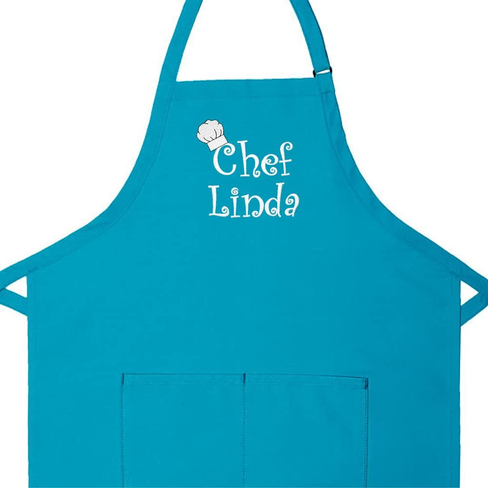 Personalized Apron Embroidered Chef Any Name Design Add a Name