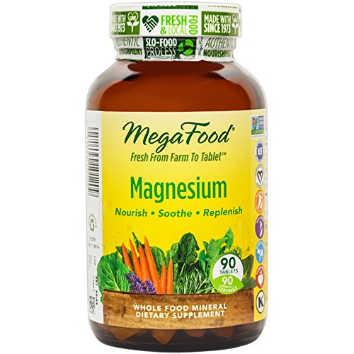 MegaFood – Magnesium, Supports the Health of the Heart & Nervous System, 90 Tablets (FFP)