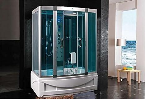 Cabina doccia idromassaggio sauna bagno turco 150x90: Amazon.it ...