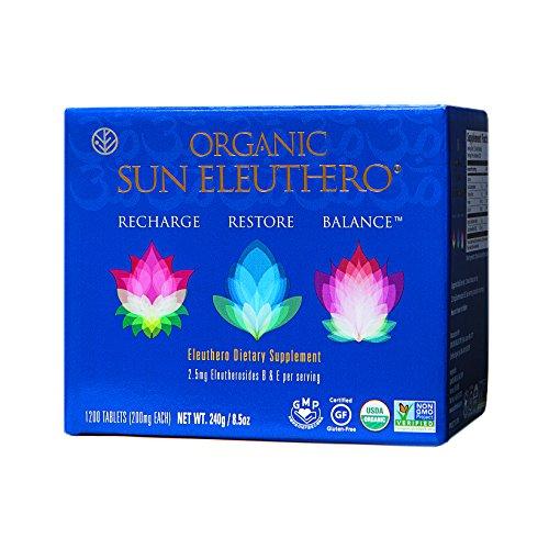 Sun Chlorella- Organic Sun Eleuthero Dietary Supplement- 200Mg Tablets (1200 Count) by Sun Chlorella