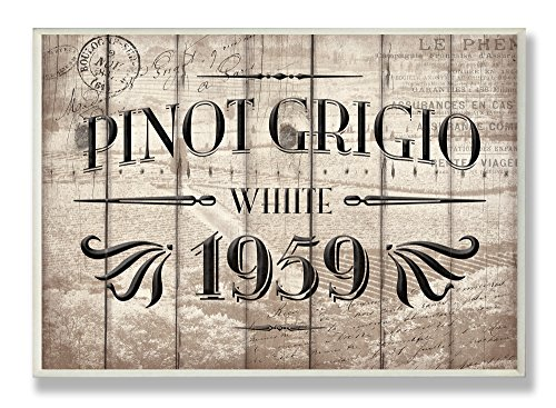 The Stupell Home Decor Collection Pinot Grigio Barrel Label Wine Kitchen, 12.5
