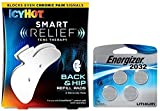 Icy Hot Smart Relief Tens Therapy Back and Hip Refill Kit, 2 Pads Plus 4 Replacement Batteries