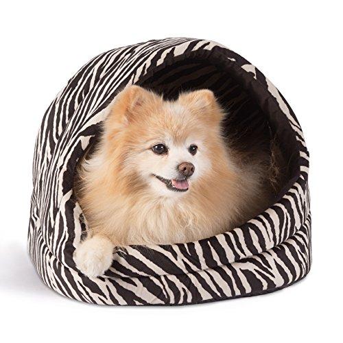 Best Friends by Sheri Pet Cave in Zoo, Zebra Black, (Epic Bowser)