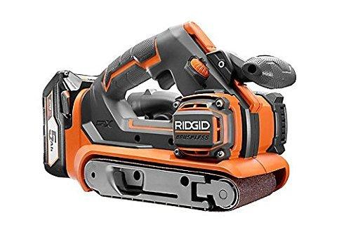 RIDGID 18 V Li-On Cordless GEN5X Brushless Belt Sanders Powe