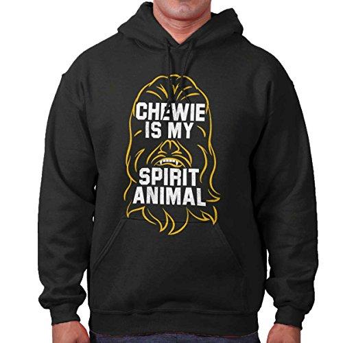 Chewie is My Spirit Animal Space Movie Nerd Hoodie Black]()