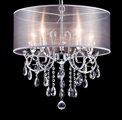 Drum Pendant Light With Crystal in Florida - 4