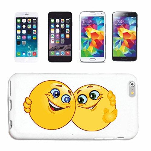 "cas de téléphone iPhone 6+ Plus ""TWO LOVERS AT SMILEYS TURTELN ""SMILEYS SMILIES ANDROID IPHONE EMOTICONS IOS grin VISAGE EMOTICON APP"" Hard Case Cover Téléphone Covers Smart Cover pour Apple iPhone en"
