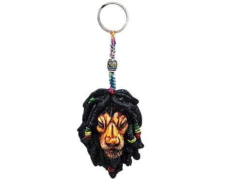 Amazon.com: Rasta Dread Llavero de león con diseño de reggae ...