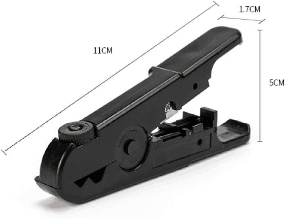 Pratique Et Abordable Pince /à D/éNuder pour C/âBle De R/éSeau Noir Theshy Pinces Double Clip-Pince /à D/éNuder pour C/âBle Coaxial Pince /à D/éNuder
