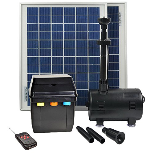 ASC 16 Watt Solar Power Panel Kit Water Pump Fountain Pool Garden Watering with Timer Control and Remote by ASC