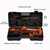 TTAM 3.0 Ton (6600lb)12 V DC Fully Automatic Electric Scissor Car Jack with Wheel Nut Wrench Repair Tire Change Kit