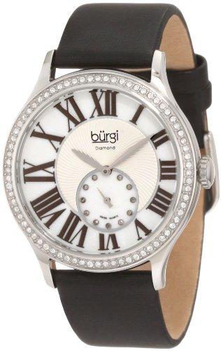 Burgi Women's BU56SS Swiss Quartz Diamond Strap Watch