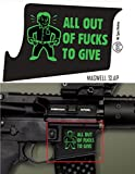 Ultimate Arms Gear Mag Wraps Magwell Slaps MSM Mil-Spec Monkey All Out of F**ks To Give AR15/M4/M16 .223 5.56 Waterproof Durable Lower Decal Skin Kit - USA MADE