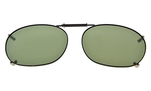 Eyekepper Telaio in metallo Rim lente polarizzata Clip su occhiali da sole 52x35MM