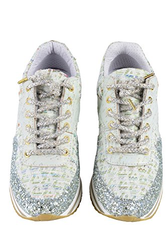 Oro Sneaker Delle Tessile Turchese 2 A Stelle Scarpe Bianco 36 Donne Lime rIwvqr