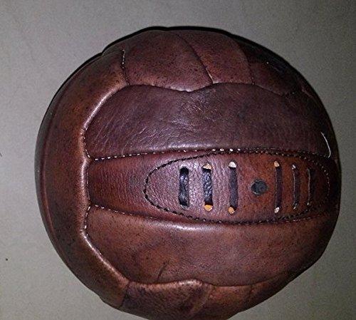 ヴィンテージスタイル本革サッカーボール、サイズ5、18パネル B018EMRCME