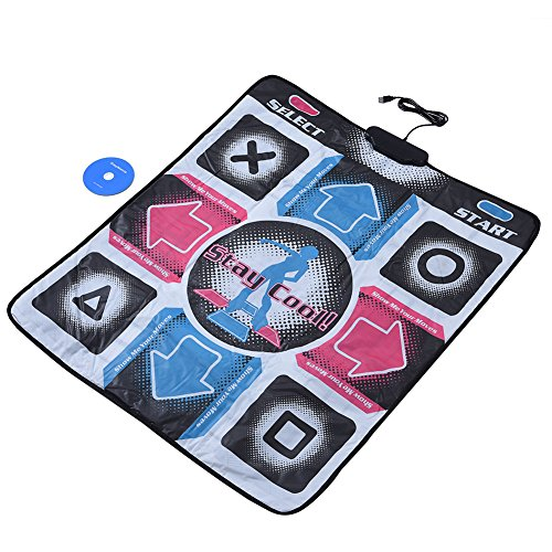 Dancing Pad - fosa Non-Slip Durable Wear-resistant Dancing Step Pad Musical Play Mat Dancer Blanket with USB Connection for PC/Windows 98/2000/XP/7 OS, Applicable To Adults/Children