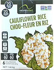 1,44kg. (6x240g.) Cauliflower Rice, Keto Diet, Nature's Intent, 6 Microwaveable Pouches, 50oz. New. (NO Taxes on This Item)