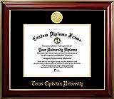 Texas Christian University 22K Gold Medallion Diploma Frame (OTHER)