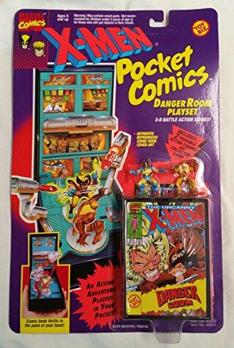 X-Men Pocket Comics Danger Room Playset w/ Wolverine and Sabretooth (1994) (Gambit X Men Days Of Future Past)