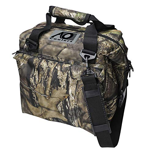 AO Coolers Traveler Original Soft Cooler with High-Density Insulation, Mossy Oak, 12-Can