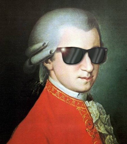 ConversationPrints FUNNY WOLFGANG AMADEUS MOZART SUNGLASSES GLOSSY POSTER PICTURE PHOTO ()