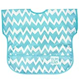 Bumkins Waterproof Junior Bib, Blue Chevron (1-3 Years)