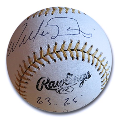 Willie Davis Signed Autographed Gold Glove Baseball Dodgers w/Stats JSA S37935 (Willie Gold Gloves Mays)