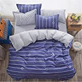 CHSLRER Winter Soft Cotton 3/4 Pcs Bedding Set Adult Kids Child Bed Linens Single Twin Queen King Size Duvet Cover Sheet 3 See Below for Size descriptions