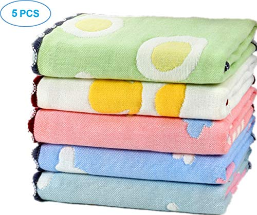 (Baby Muslin Washcloths, Premium Great Density Cotton Face Cloth, Super Soft Baby Washcloth for Delicate Skin and Great Sewing Face Towel, Boys or Girls Funny Wipes)