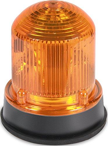 Edwards Signaling 125STRNA120AB Flashing Xenon Strobe Beacon, Corrosion Resistant Enclosure, Normal Output 175K Peak Candela, 120V AC, Black Base, Amber by Edwards-Signaling