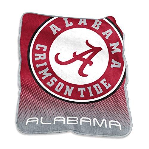 Alabama Crimson Tide Plush Throw - Logo Brands NCAA Alabama Crimson Tide Raschel Throw, One Size, Cardinal