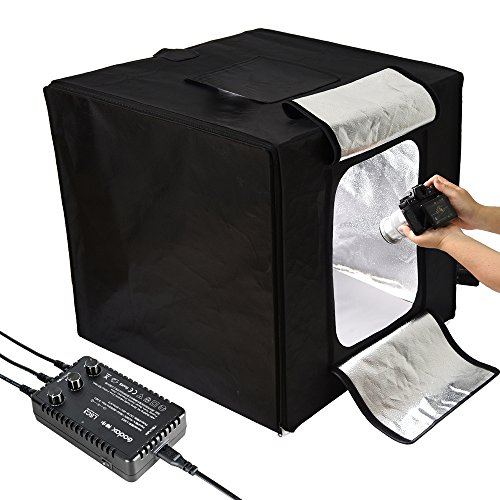 (Godox LST40 Mini Photography Studio Lighting Tent, 5800K Triple LED Light Boards Studio Box for Photography Shooting (16 x 16 x16 inch))