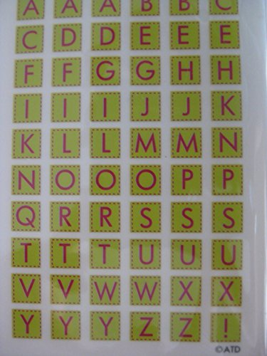 (Lime Green Alphabet Rub-ons for Scrapbooking (RO1236))