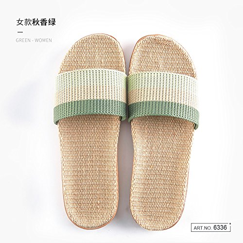 slippers Linen men silent and of Deodorization anti 37 summer home 38 fankou cool k couple indoor floor women slippers slip wooden and home gUwXxdq