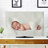 PRUNUS Television Protector Sleeping Newborn Baby on a Blanket Television Protector W30 x H50 INCH/TV 52''