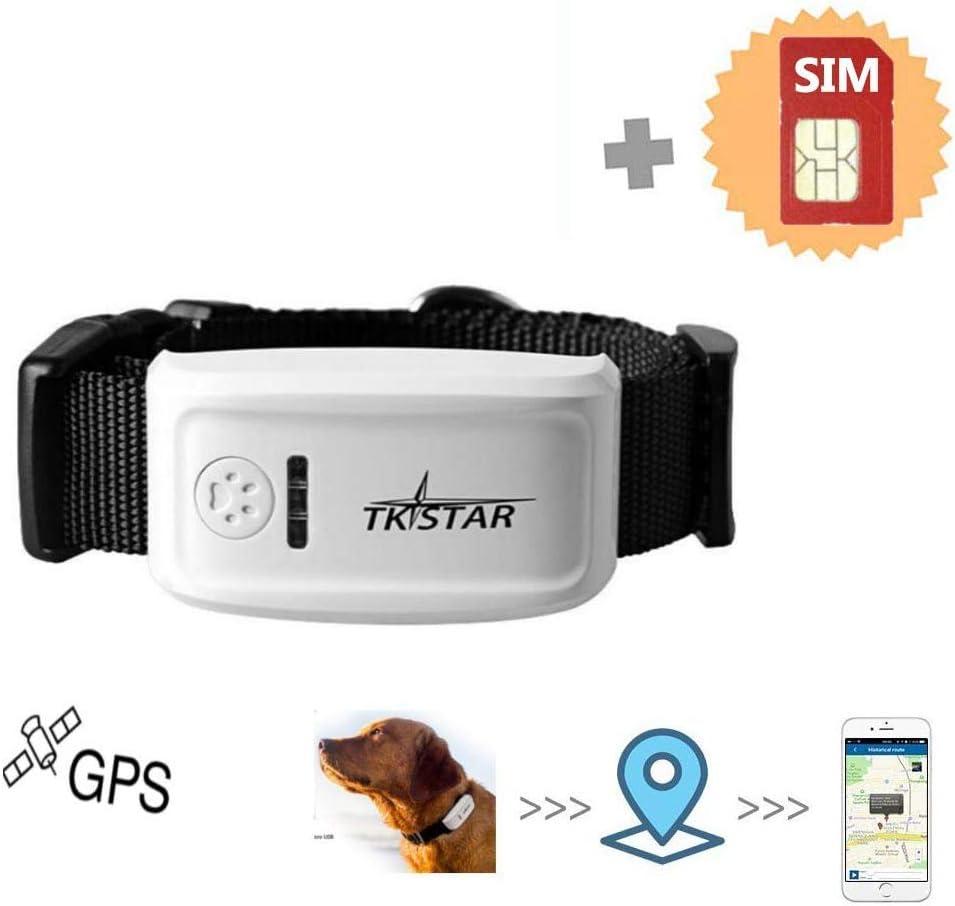 MUXAN Rastreador Tractive GPS con Targeta SIM para Perros, localizador GPS para Perros con aplicación Gratuita