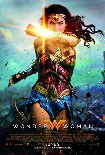 Wonder Woman Movie Poster Limited Print Photo Gal Gadot, Chris Pine Size 27x40 #2