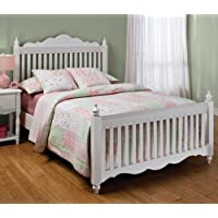 Hillsdale Furniture 1528BFR Lauren Post Bed Set with Rails, Full, White