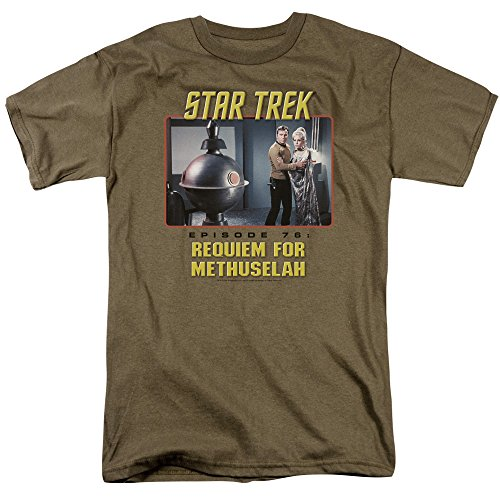 Trevco Men's Star Trek Short Sleeve T-Shirt, Requiem Safari Green, - Requiem Green